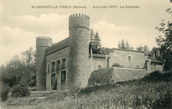 Chevinay (Rhône) : Altitude 787m. Le château