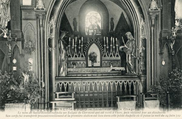 Chevinay (Rhône) : Intérieur de la chapelle