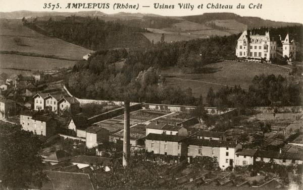 Amplepuis (Rhône) : Usines Villy et château du Crêt