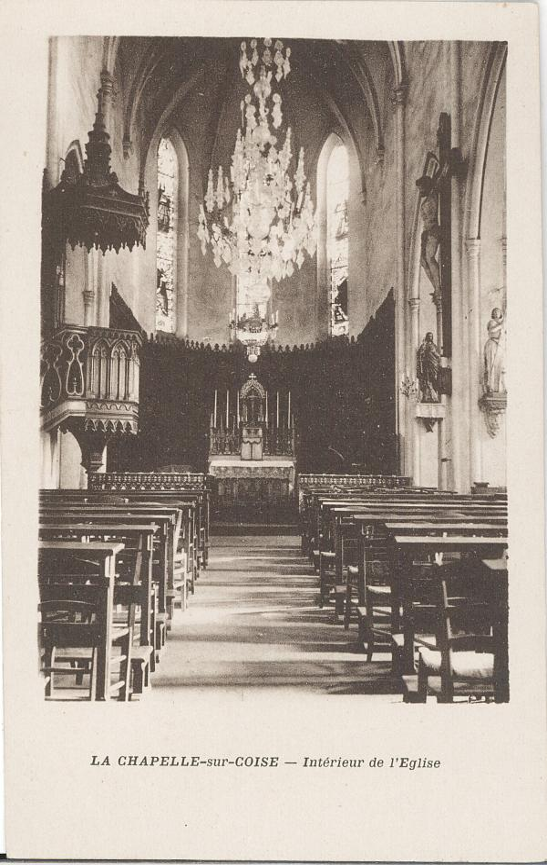 La Chapelle-sur-Coise (Rhône) : Intérieur de l'église