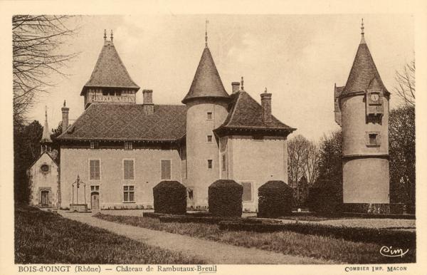 Bois-d'Oingt (Rhône) : Château de Rambutaux-Breuil