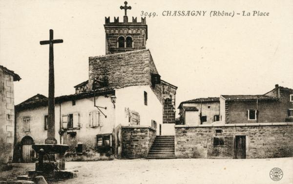 Chassagny (Rhône) : La place