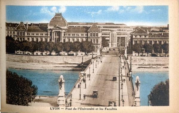 Lyon : Pont de l'Université et les Facultés