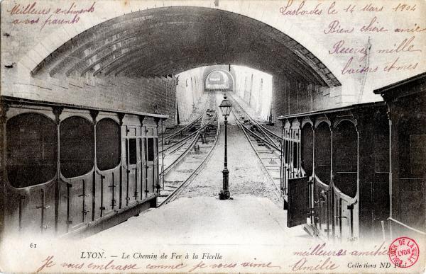Lyon : Le Chemin de fer à la Ficelle