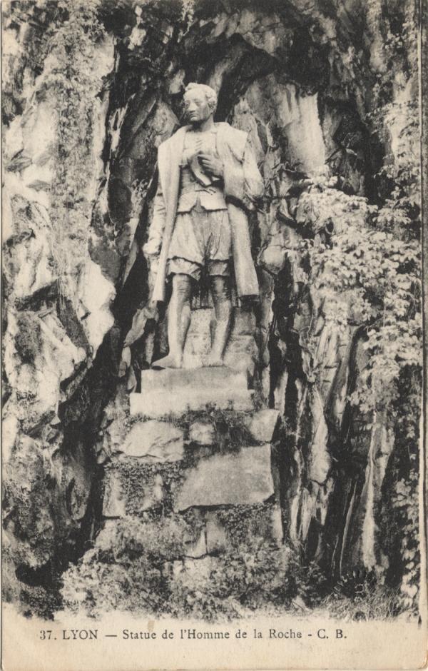 Lyon : Statue de l'Homme de la Roche