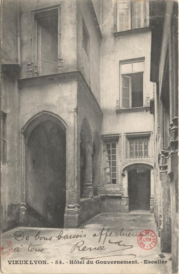 Vieux Lyon : Hôtel du Gouvernement ; Escalier