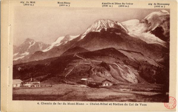 Chemin de fer du Mont-Blanc : Chalet-Hôtel et station du Col de Voza
