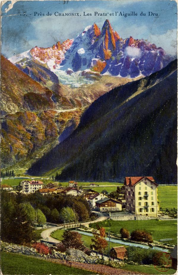 Près de Chamonix : Les Pratz et l'Aiguille du Dru