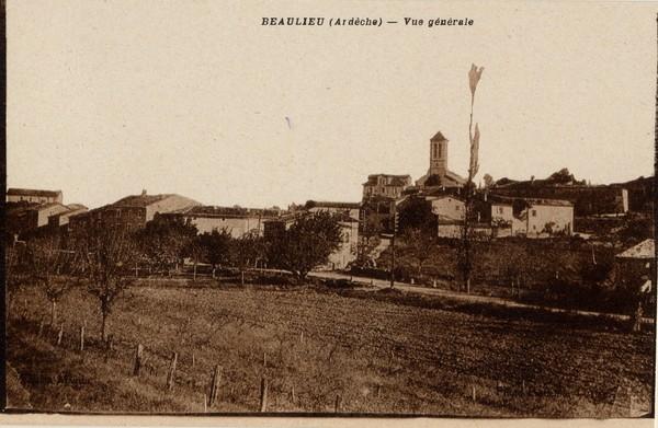 Beaulieu (Ardèche) : Vue générale