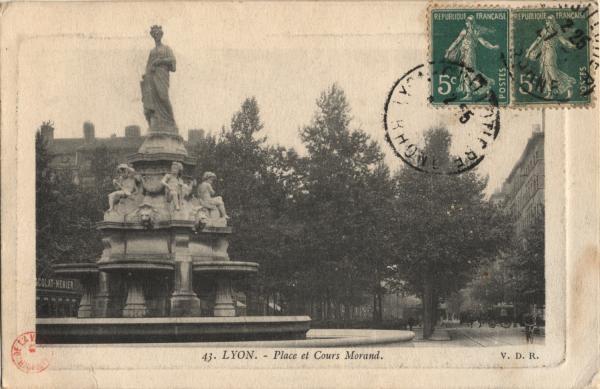 Lyon : Place et Cours Morand