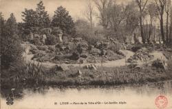 Lyon : Parc de la  Tête d'Or ; Le jardin Alpin