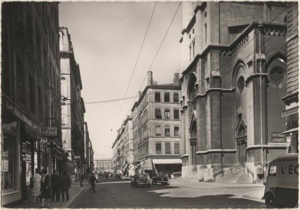 Lyon : Rue de Marseille ; Église St-André