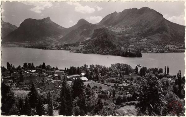 Lac d'Annecy : Talloires et la presqu'île de Duingt