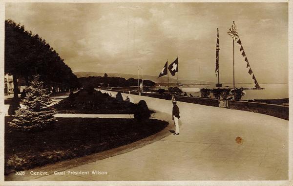 Genève. Quai Président Wilson