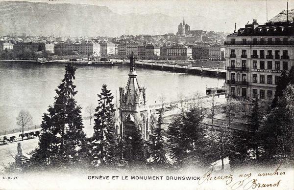 Genève et le Monument Brunswick