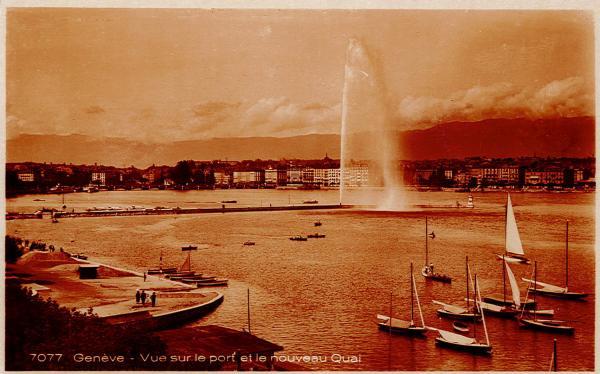 Genève - Vue sur le port et le nouveau quai