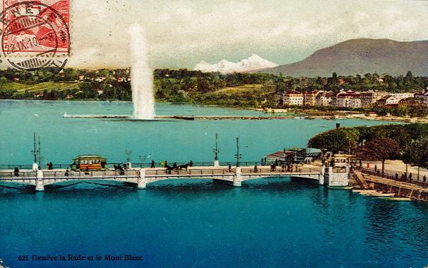 Genève - La Rade et le Mont Blanc