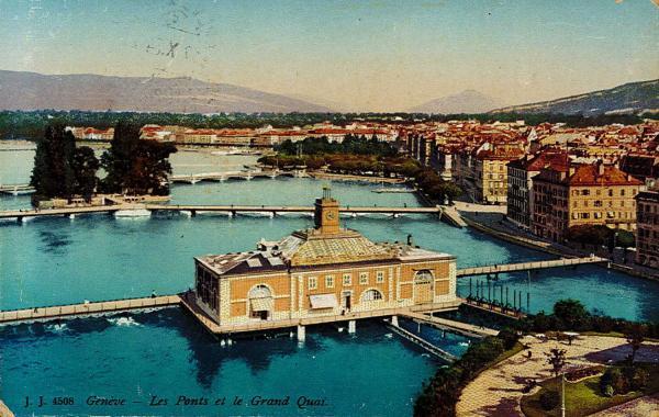 Genève - Les Ponts et le Grand Quai