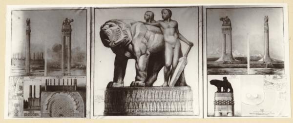 """[Projet de monument aux morts : """"Lyon confluent du Rhône et de la Saône""""]"""