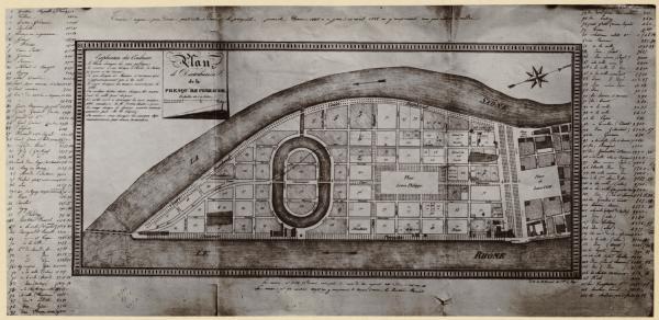 [Plan de distribution de la presqu'île Perrache]