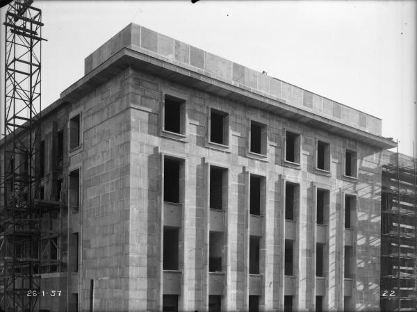 [Construction de l'Hôtel des Postes, Télégraphes et Téléphonies de Lyon (1934-1938) : détail]