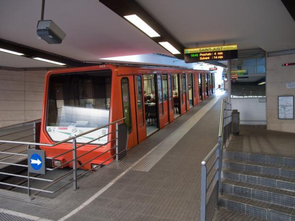 Funiculaire de Saint-Just, station Vieux-Lyon