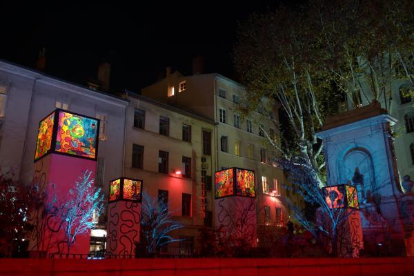 Les Cubes de lumière, Fête des Lumière 2011