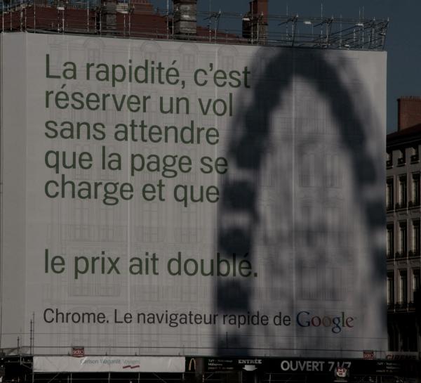 La publicité et la roue, ombres
