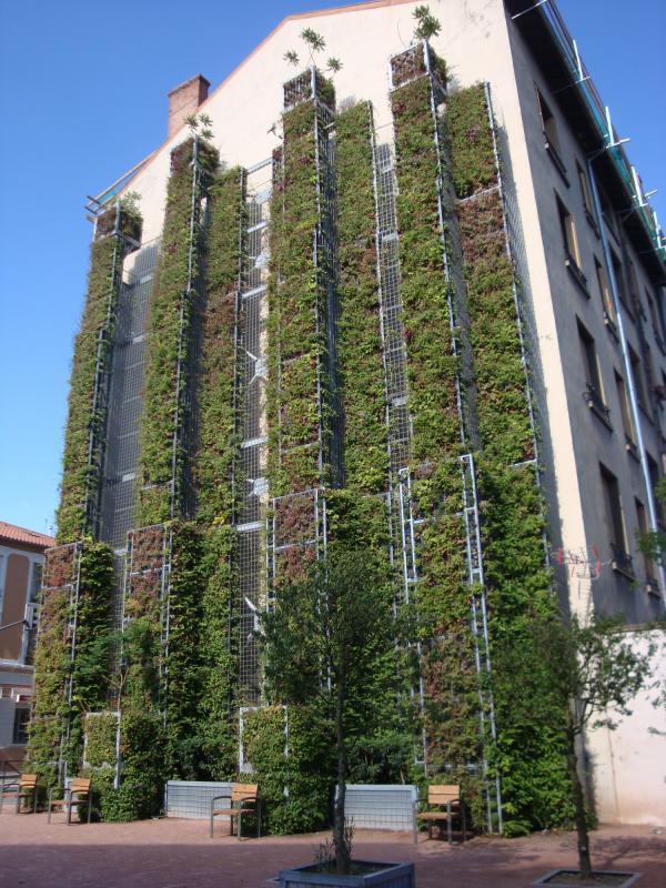 Mur végétal du métro de Cusset