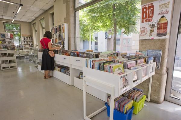 [Salle adulte de la bibliothèque Gerland du 7e arrondissement]