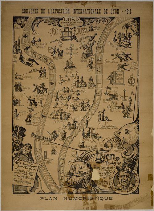Plan humoristique. Souvenir de l'Exposition (...)