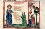 Moïse recevant les tables de la Loi et adoration du Veau d'or